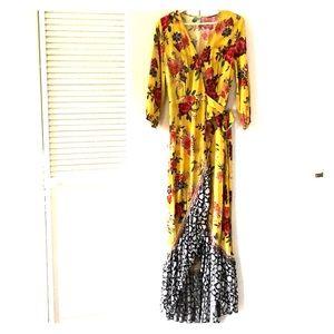 Farm Rio Sunlit Floral Maxi Dress - Anthropologie